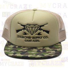 DIAMOND SUPPLY CO GAME ASSN GUNS CAMO MESH SNAPBACK ADJUSTABLE CAP HAT  #diamondsupplyco #baseballcap #streetwear