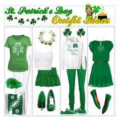 St. Patrick's Day Outfit Ideas by trishaissmiling on Polyvore featuring art