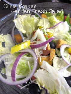 This salad tastes just like the salad from Olive Garden!  Thanks SixSistersStuff!