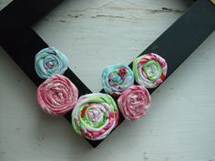 Fabric FlowersSugar Hill CollectionRolled by BloomingWhispers, $6.95