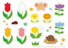 【春の工作】 ハサミで切ってのりで貼る 幼児の簡単 工作プリント