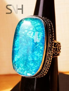 SNH  Handmade BLue Opal Ring by SNHJewels on Etsy