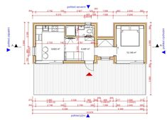 výstavní dům CORINNE 41m² - SLEVA 205.574,-   hobbytec.cz Pergola, Floor Plans, Outdoor Pergola, Floor Plan Drawing, House Floor Plans