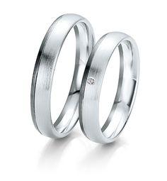 Breuning Trouwringen |  black&white gouden ringen |  4mm briljant 0.01ct  verkrijgbaar in 8,14 en 18 karaat | 4806150 / 4806160 #blackenwhite #breuning #jdbw #breuningtrouwringen #trouwringen #trouwen