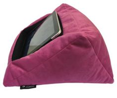 iPad Cushion Pillow Stand Holder (Velvet Pink) Suitable for all Tablet devices by iCushion, http://www.amazon.co.uk/dp/B00B1UDO2O/ref=cm_sw_r_pi_dp_T7matb1XAKANH