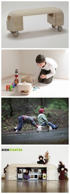 Rollark, multifunctional wooden toy