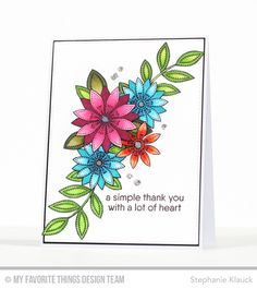 Funky Flowers, Grateful For You, Blueprints 13 Die-namics - Stephanie Klauck  #mftstamps
