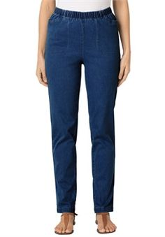 Plus Size Tall jean, stretch, relaxed fit, straight legs