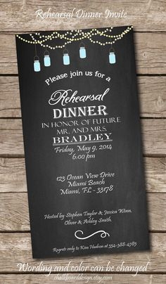 Printable Rehearsal Dinner Invite, Printables, Custom Dinner invitation, DIY, wedding rehearsal invitation on Etsy, $14.99