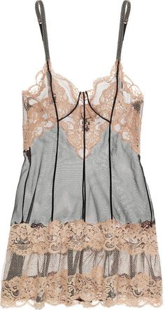 Lace and Tulle Chemise