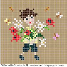 Happy Childhood collection - Redcross stitch patternby Perrette Samouiloff