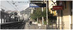 Railwaystation in Chiavari Italy.