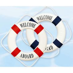 Life Rings and Life Preservers for Decoration and Nautical Decor.