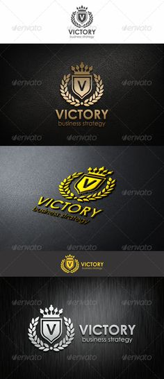 Victory – Vintage coat of arms – Fashion & Elegant company logotype. An excellent logo template highly suitable for leisure business, fashion and clothing businesses.- Elegant company logotype. Vector Logotype for Your business projects. Perfect for websites, business cards, company stationery and others!