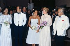 """July 30, 1982, Red Cross Gala (one of her many participation in charitable activities for fund raising). This is a picture of the """"perfect"""" family (Caroline, Albert, Stephanie, Grace & Rainier). This was her last ball, she died on September 14, 1982."""