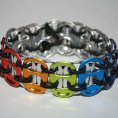 Actually saw a group of teens wearing these the other day at the library -- finally, something to make with all of those recycled pop cans!