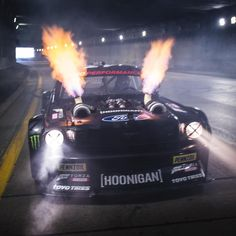Hoonigan Racing Division's Ken Block is pleased to announce that he's currently in production of GymhanaTEN, the installment of his award-winning, Gymkhana viral video franchise. Block has done so today via a two-minute trailer, which. Ken Block, Custom Muscle Cars, Custom Cars, Custom Trucks, Carros Audi, Street Racing Cars, Auto Racing, Drifting Cars, Tuner Cars