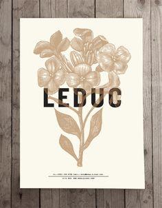 LEDUC identity by Marie-Laurence Carrière, via Behance