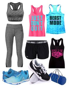 """Beast Mode"" by riley-beckeye on Polyvore featuring The North Face, Reebok and Under Armour"