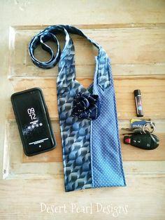 Blue tie purse blue silk shoulder bag blue crossbody purse