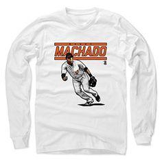 Manny Machado Score O Baltimore Men's Long Sleeve S White