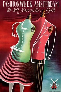Vintage Fashion Week 1940s Posters and Prints