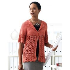Breezy Bamboo Crochet Cardigan Pattern..beautiful and there's a free pattern!!