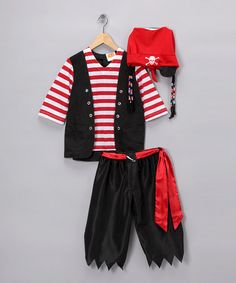 Take a look at this Jr. Pirate Dress-Up Outfit - Kids by Aeromax on #zulily today!