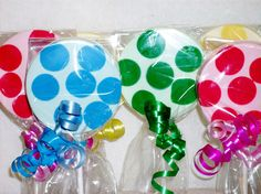 Chocolate Polka Dot Lollipops by candycottage on Etsy, $17.00