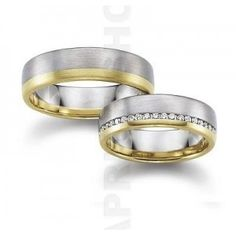 Gerstner wedding rings width: 6 mm Color: white yellow Number, cut and carats of diamonds: 20 briliant 0,20 carat Precious alloy type (at your choice): Gold 585‰ Gold 750‰