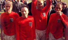 - (L-R) Exhausted England players Bobby Charlton, Nobby Stiles, Bobby Moore and Ray Wilson after the game England National Football Team, England Football, National Football Teams, Retro Football, Football Fans, 1966 World Cup Final, Bobby Moore, Bobby Charlton