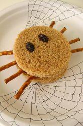 First Grade Halloween Activities: Spider Halloween Sandwiches
