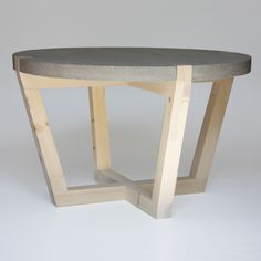 Handcrafted Coffee Table by Kuiken Design Table Beton, Concrete Table, Concrete Furniture, Concrete Wood, Concrete Design, Table Furniture, Trendy Furniture, Diy Furniture Projects, Handmade Furniture