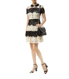 Red Valentino Two-Tone Lace Dress | Harrods.com
