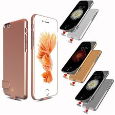 Ultra thin Rechargeable External Battery Case for iPhone 5 5s 5c Case Backup for apple iPhone 6s 6 Plus 7 7plus Power Bank Cover