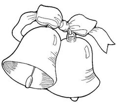 Bell Template For Christmas Decoration Christmas Stocking  Colouring In Stencil  Christmas  Pinterest