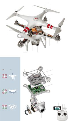 A Teardown of the Phantom 2 Vision Plus Drone from DJI #Tech #Drones #DJI