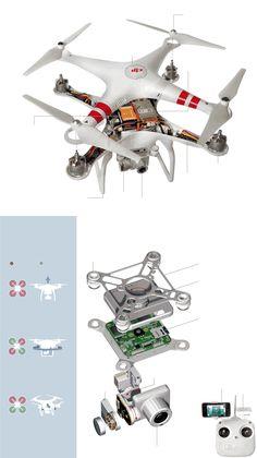 A Teardown of the Phantom 2 Vision Plus Drone from DJI #Tech #Drones #DJI