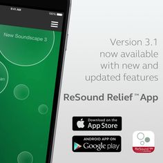 We are pleased to announce that last week we released the new version of Relief, our tinnitus app for ReSound. ReSound Relief 3.1 is available in the appstore for iOS and Android, so go ahead and download it!