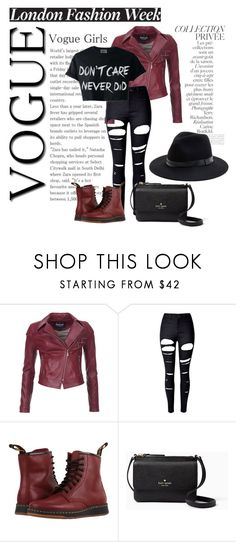 """Outfit for Hann ..."" by adelinejaned on Polyvore featuring Barbour International, WithChic, By Terry, Dr. Martens, Kate Spade and Sole Society"