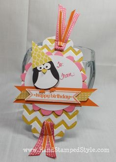 Stampin' Up! Owl Punch Penguin Art Tag- www.HandStampedStyle.com