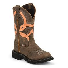Justin Women's Gypsy Overlay Round Toe Western Boots