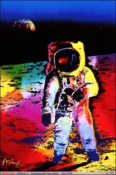 Walking on the Moon © Peter Max - 1999