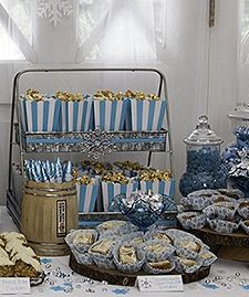 Jodie's Baby Shower  Rentals by Southern Charm Vintage Rentals www.facebook.com/southerncharmvintagerentalswhitby www.southerncharmvintagerentals.com  VINTAGE SWEETS TABLE WINTER SWEETS TABLE BABY BOY SHOWER VINTAGE SWEETS TABLE