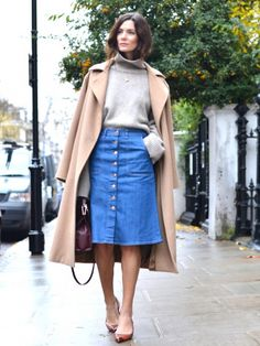 The Trend Taking Over the Fashion World: Button-Front Skirts