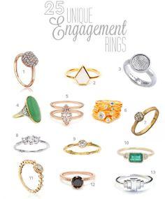 25 Unique Engagement Rings