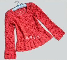 Scorzo Tricroche: Blusa de crochê manga longa