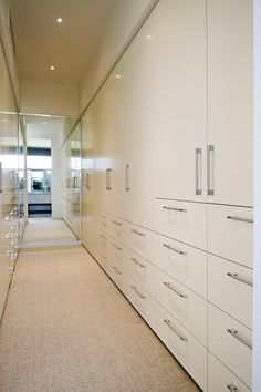 Walk in robe cabinetry - mirror to reflect light