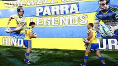Hindmarsh and Burt forever legends. Hindy will forever go one as the best eels player of all time Rugby League, Winding Road, Take Back, Back Seat, Legends, Sports, Hs Sports, Excercise, Sport