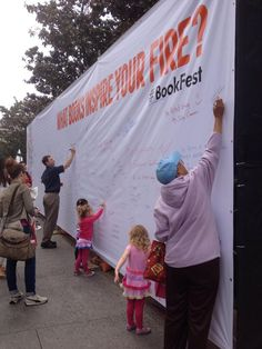 What Books Inspire Your Fire at LA #bookfest